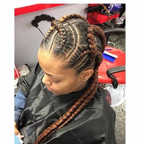 milk chocolate ghana braids