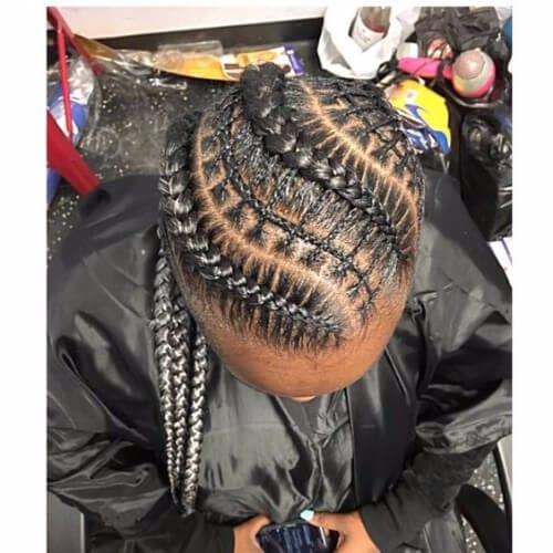 silver metallic ghana braids