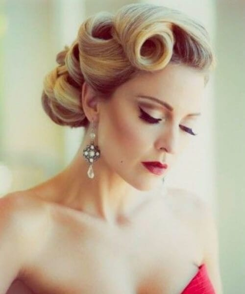 victory rolls homecoming hairstyles