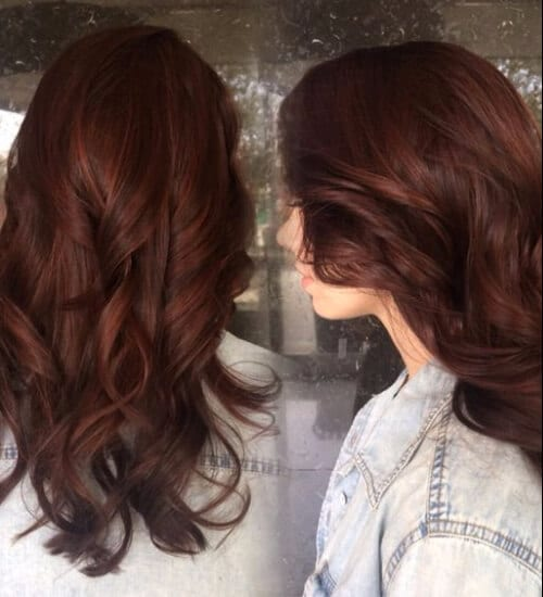 60 outstanding ideas for auburn hair color my new hairstyles auburn hair color brunette with subtle red highlights peaking through pmusecretfo Choice Image