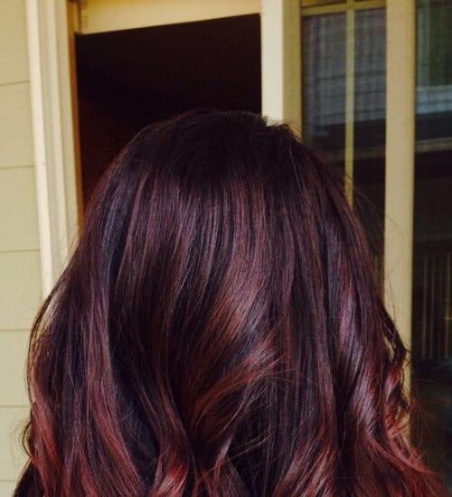 Cherry cola auburn hair color