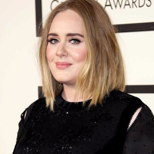 Haircut that optically lengthen a round face adele haircuts for round faces