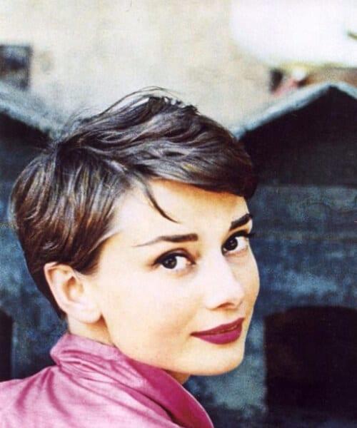 audrey hepburn updos for short hair
