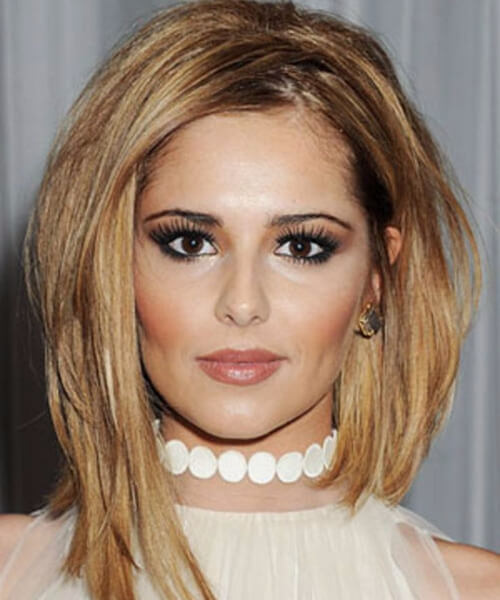 cheryl cole haircuts for round faces