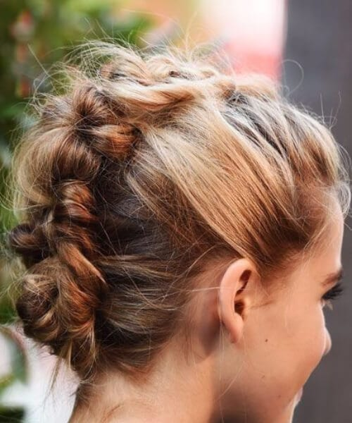 double dutch braids close together faux mohawk updos for short hair