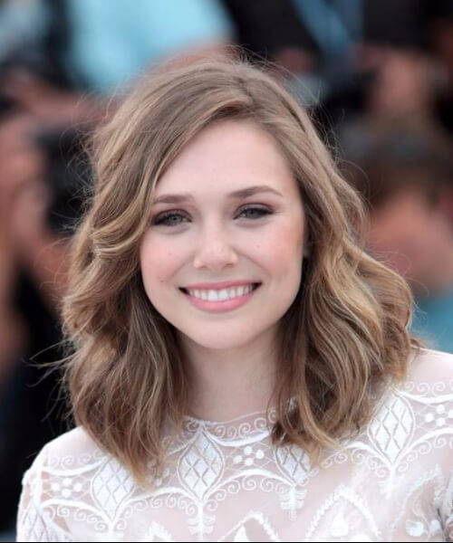 elizabeth olsen haircuts for round faces