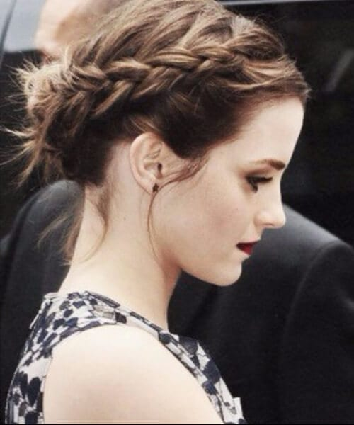 emma watson updos for short hair