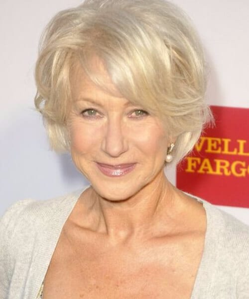 helen mirren short blonde hair