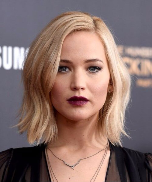jennifer lawrence haircuts for round faces