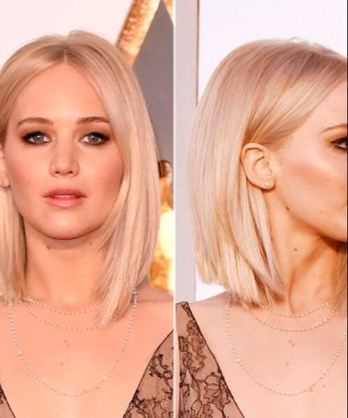 jennifer lawrence short blonde hair