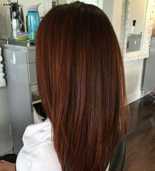 long layered auburn hair color