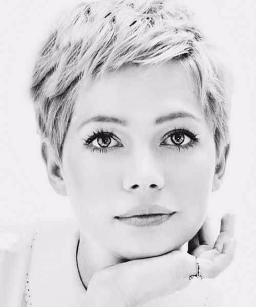 michelle williams very short pixie updos for short hair