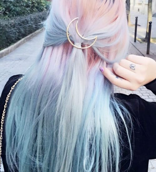 pink and blue ombre hair