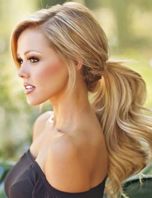 ponytail bridesmaid hairstyles
