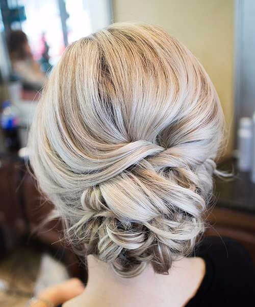 prom updos low braided chignon