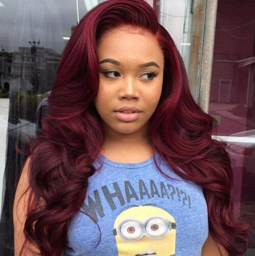 raspberry curly sew in hairstyles
