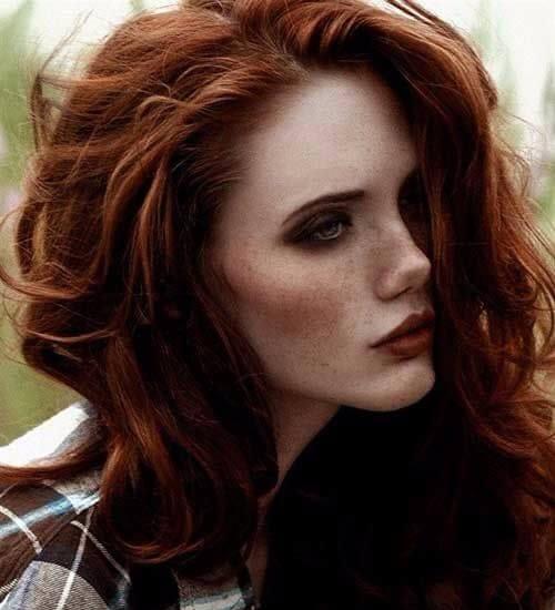 red auburn hair color freckles