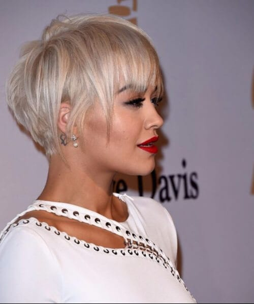 rita ora updos for short hair