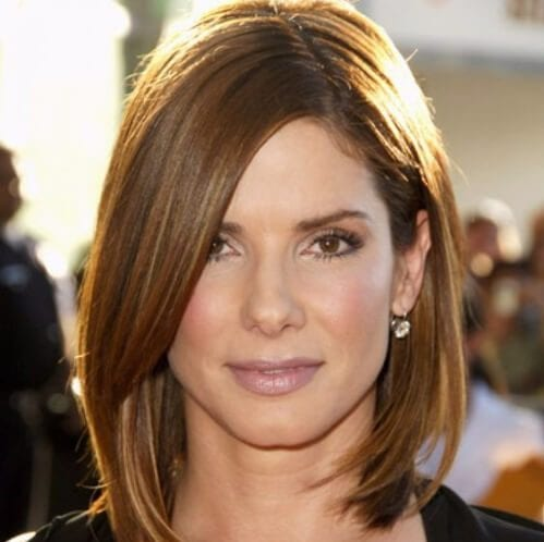 sandra bullock haircuts for round faces