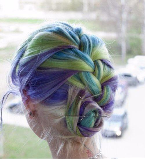 slurpee blue ombre hair
