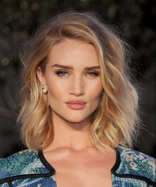 rosie huntington whiteley short blonde hair