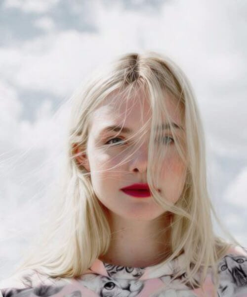 elle fanning blonde hair