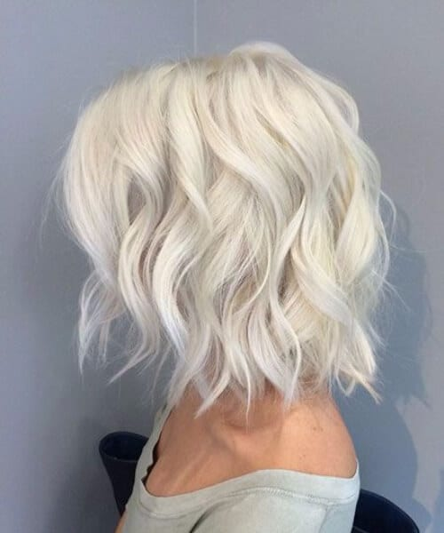 icy blonde short hairstyles