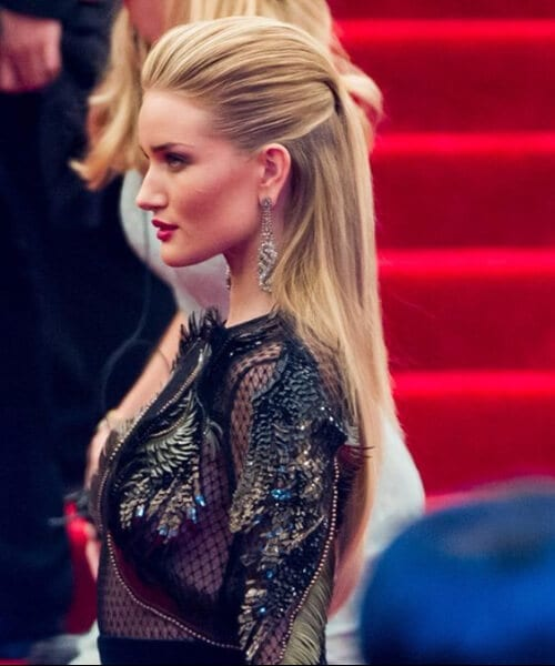 rosie huntington whitely long hairstyles