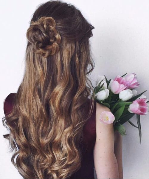 the wedding rose long hairstyles