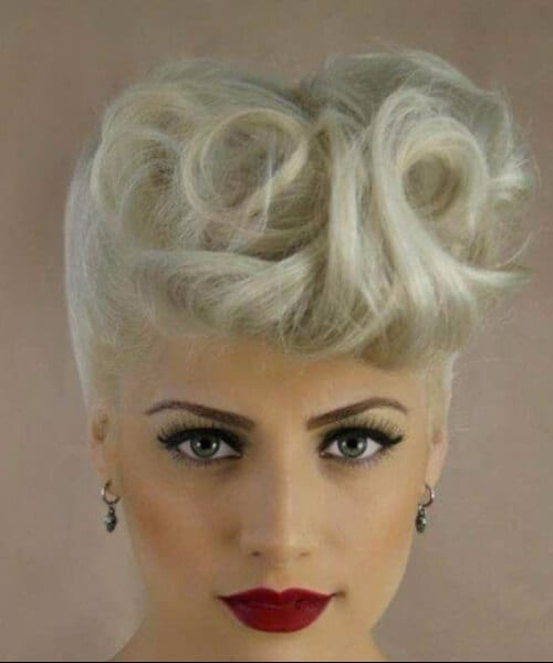 white hair pin up hairstyles