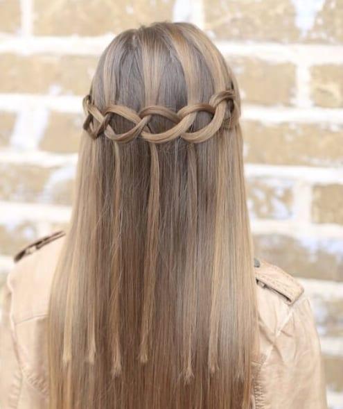 Loop Waterfall Braids little girl hairstyles