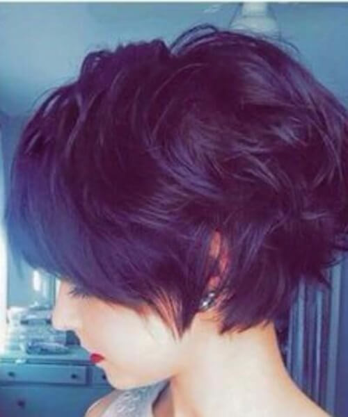 Angled Long Pixie Cut for Wavy Hair