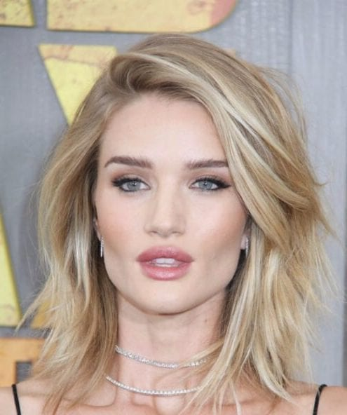 Rosie Huntington-Whiteley shoulder length bob