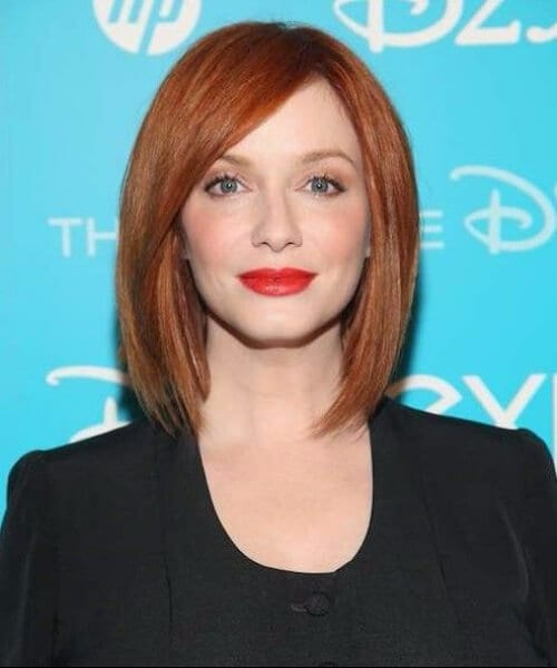christina hendricks shoulder length bob