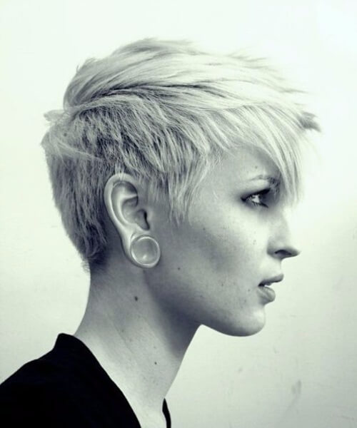 cropped long pixie cut