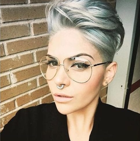 elegant long pixie cut