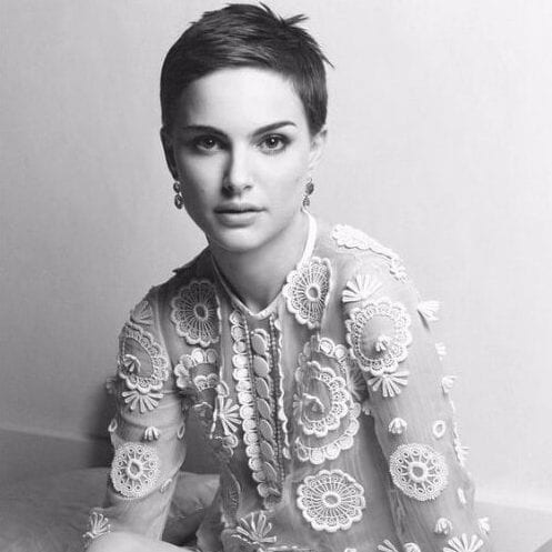 natalie portman long pixie cut