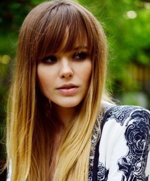 ombre bangs hairstyles for thin hair