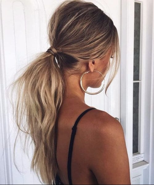 simple ponytail hairstyles for thin hair