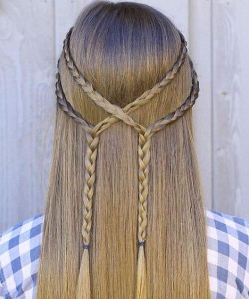 simple tiebacks little girl hairstyles