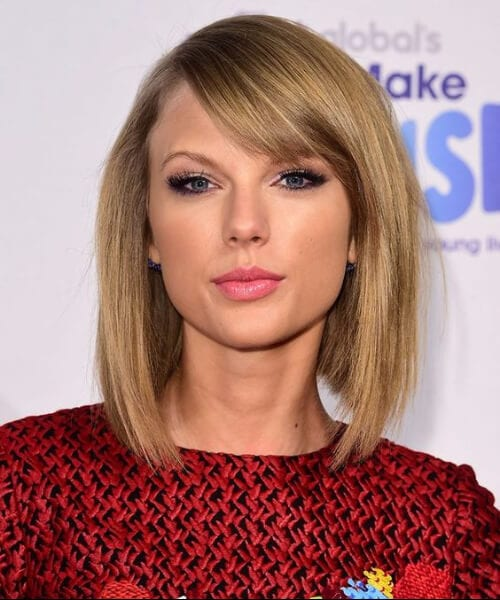 taylor swift shoulder length bob