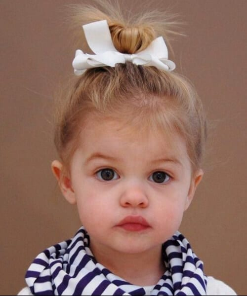 top knot little girl hairstyles