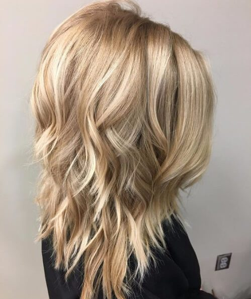 beige blonde layered haircuts