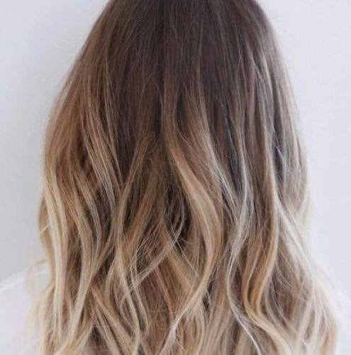 brass blonde balayage hair color