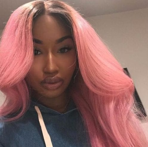bubble gum pink weave hairstyles