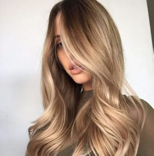 chai balayage hair color