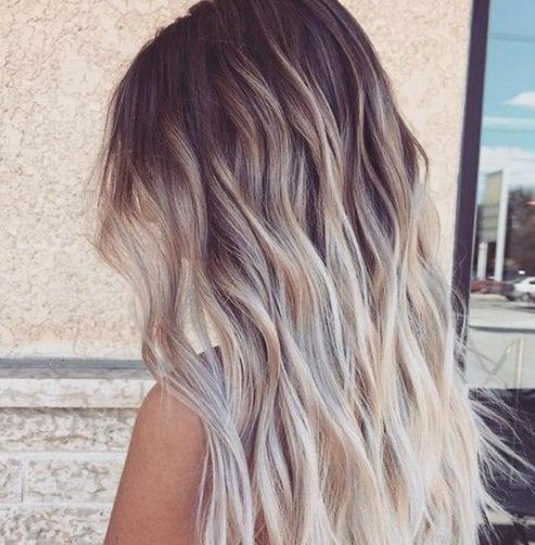 cremoso de verano balayage color de pelo
