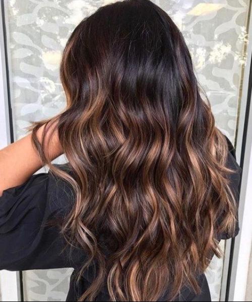 dark coconut balayage hair color