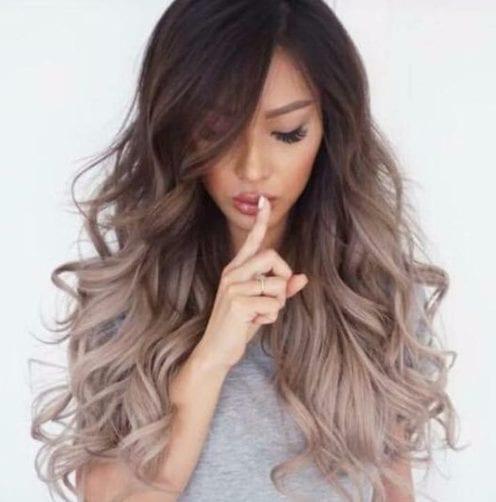 la oscuridad a cenizas balayage color de pelo