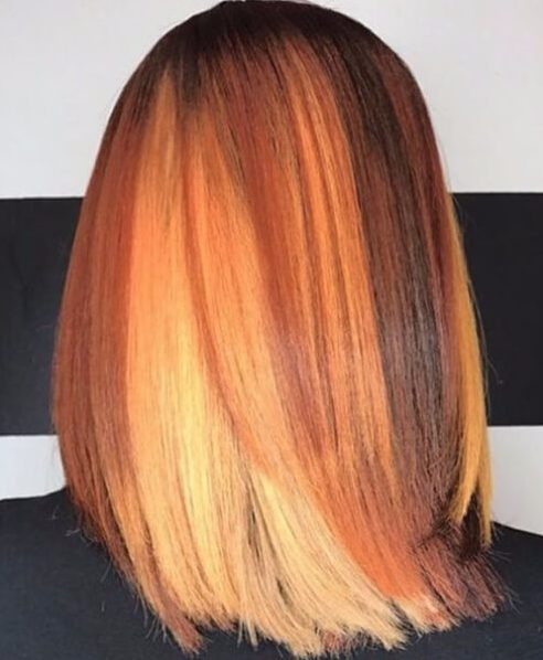 fall colors weave hairstyles